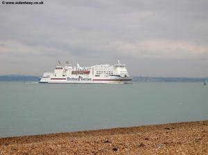 A Brittany Ferries boat in the Solent